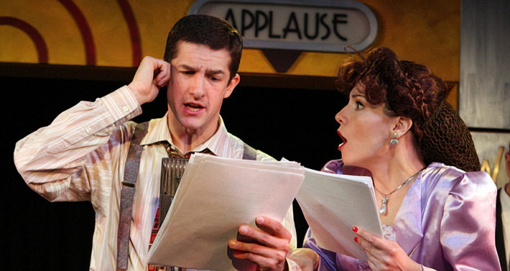 Amy Russ and D. Matt Worley in the Moss Hart Award-Winning production of IT'S A WONDERFUL LIFE at MTC