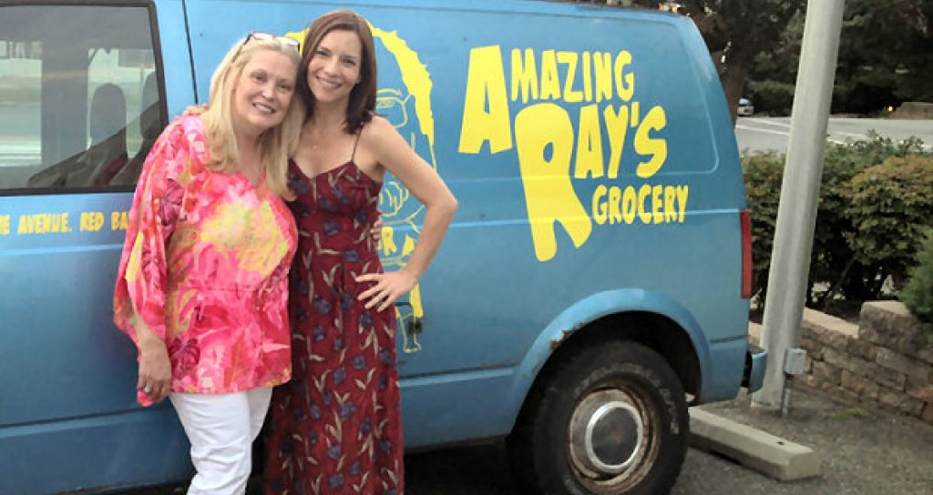 Cathy Moriarty and Amy Russ