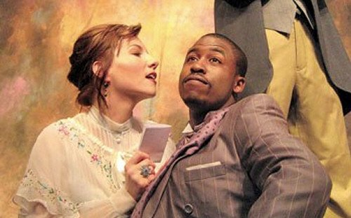 Amy Russ with Jason Bowen in THE MISANTHROPE at Boston's New Rep