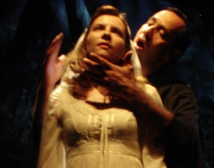 Amy Russ with Philip Hernandez in FRANKENSTEIN... DO YOU DREAM
